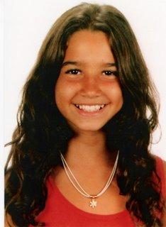Flávia aos 9 anos